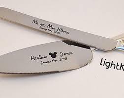 wedding cake knives and servers personalised wedding cake knife etsy