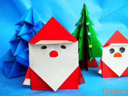 how to make santa claus using origami ideas for kids winter