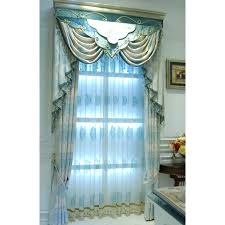 luxury bedroom curtains blue damask jacquard linen luxury bedroom curtains without valance