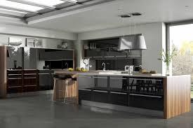 cuisine moderne et noir deco cuisine noir et bois photos de design d intérieur et
