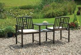 buy jack and jill bench with cushions from our metal garden