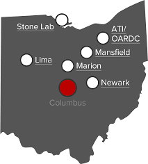 Dublin Ohio Map by The Ohio State University