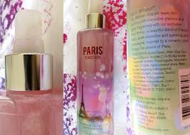 bath and body works paris amour shimmer mist review