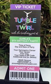 Birthday Party Cards Invitations Gymnastics Birthday Party Theme Printables Gymnastics Birthday