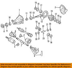 nissan oem 03 07 murano rear differential case 38420ca000 ebay