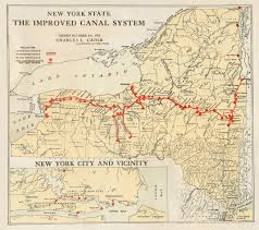 Colorado 14er Map by New York State The Improved Canal System Research American