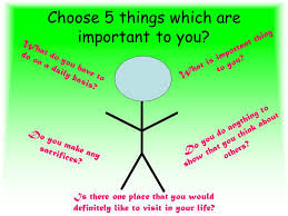 choose 5 things which are important to you what is important thing