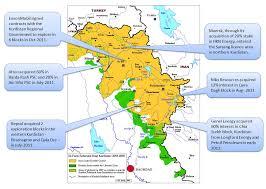 Kurdistan Map Total Signed Farm In Agreement With Marathon In Kurdistan