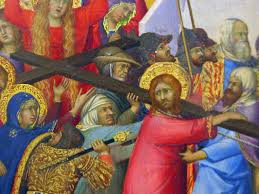 simone martini artist louvre painting 1325 35 simone martini the carrying of the cross