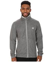 bench cardio zip thru funnel in gray for men lyst