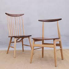 minimalist furniture nordic chair black walnut fight white oak furniture modern