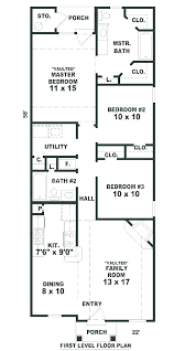 narrow home floor plans plans narrow ranch house plans