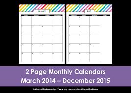 monthly calendar planner template my 2015 printable rainbow daily planner printable day planner monthly calendar