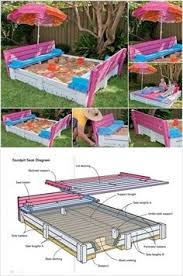 childrens picnic table with sandbox plans google search fun