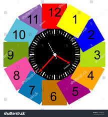 creative clocks creative clock face design modern colorful stock vector 175386464
