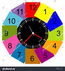 creative clocks creative clock face design modern colorful stock vector 175386464