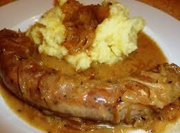 cuisiner des saucisses saucisse à rôtir sauce aux oignons les recettes de virginie