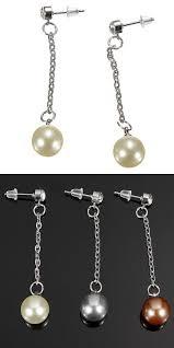 best earrings to sleep in earrings macys pearl chain pendant ear stud earrings