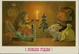 postcard dreams of russia post card hedgehogs and