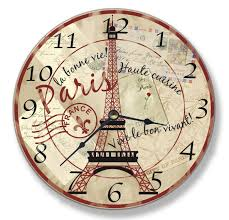 Home Decor Wall Clock Amazon Com Stupell Home Decor Collection Paris Eiffel Tower Wall