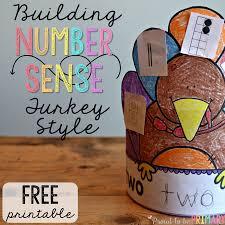 Thanksgiving In The Classroom Building Number Sense Turkeys
