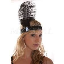 feather headband aliexpress buy feather headband 1920 s flapper sequin