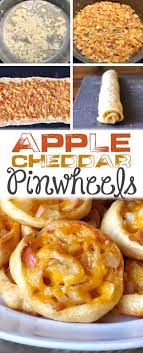apple cheddar pinwheels recipe thanksgiving appetizer idea