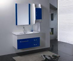 amusing bathroom medicine cabinet with blue floating vanity for