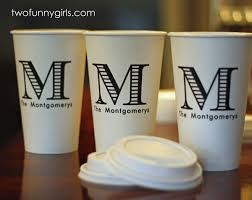 personalized cups paper coffee cups