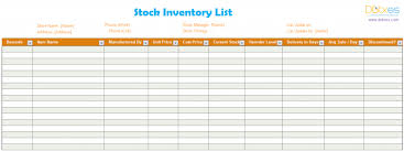 Inventory Sign Out Sheet Template Inventory List Template Stock Dotxes