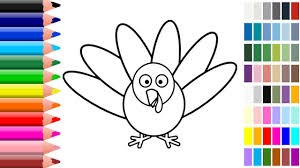 peacock coloring pages for kids how to draw peacock learn
