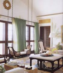 awesome long curtains for living room with soft lime green tone
