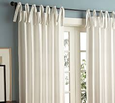 Tie Top Curtains White Tie Top 52 Cotton Curtains Drapes от Thenewhome1