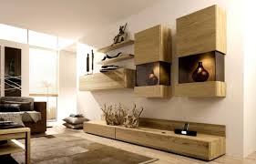 funiture contemporary wall hanging shelf and storage made of wood Living Room Organization Ideas