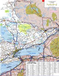 Road Map Of Canada by