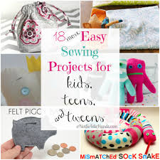 18 easy sewing projects for kids teens and tweens