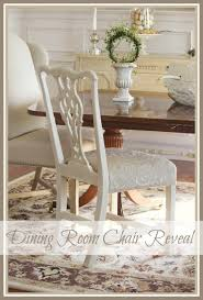 one painted and reupholstered dining room chair stonegable