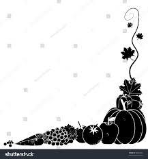 black white vegetable corner black white stock vector 86082862