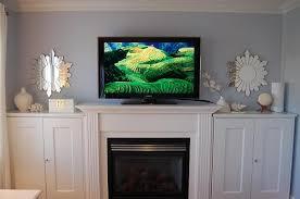 Interior Gas Fireplace Entertainment Center - gas fireplace with tv above re lcd tv above gas fireplace