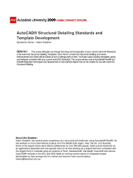 autocad structural detailing standards tag metadata databases