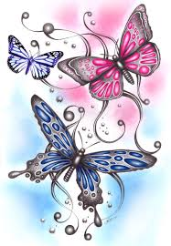butterfly drawings designs