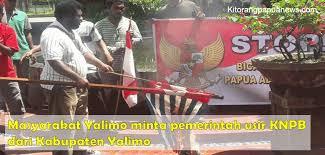 masyarakat yalimo minta pemerintah usir knpb dari kabupaten yalimo