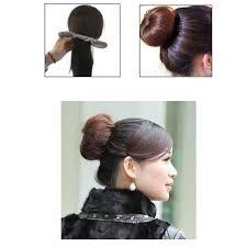 elastic hair band hairstyles 3pcs quick messy donut bun hairstyle girl hair band women