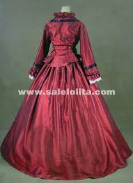 Victorian Halloween Costume Wine Red Gothic Victorian Dresses French Bustle Period Ball Gowns