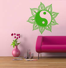 Schlafzimmer Yin Yang 2015 Wohnkultur Wandtattoos Sonne Mandala Amuiets Indische Kunst