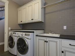 Ann Sacks Kitchen Backsplash Traditional Laundry Room With Drop In Sink U0026 Built In Bookshelf