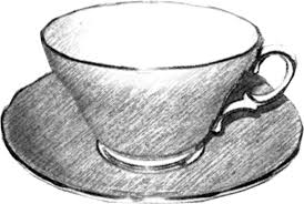 teacup black and white free images at clker com vector clip