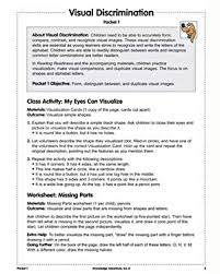 visual discrimination u2013 preschool reading lesson plan worksheet