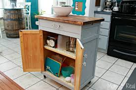 kitchen island microwave cart simple and inexpensive kitchen storage ideas 4