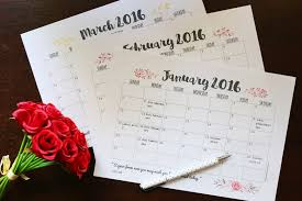 printable 12 month planner 2015 free download weekly and monthly planner printables for 2016